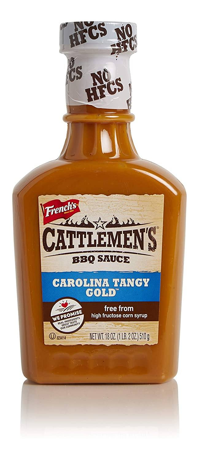 Cattlemen's BBQ Sauce French's Carolina Tangy Gold 18 Ounce