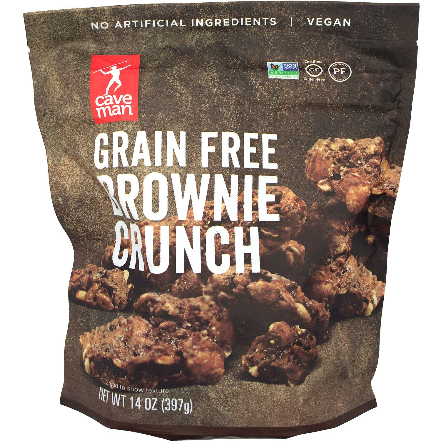 Caveman Grain Free Brownie Crunch Caveman Foods 14 Ounce