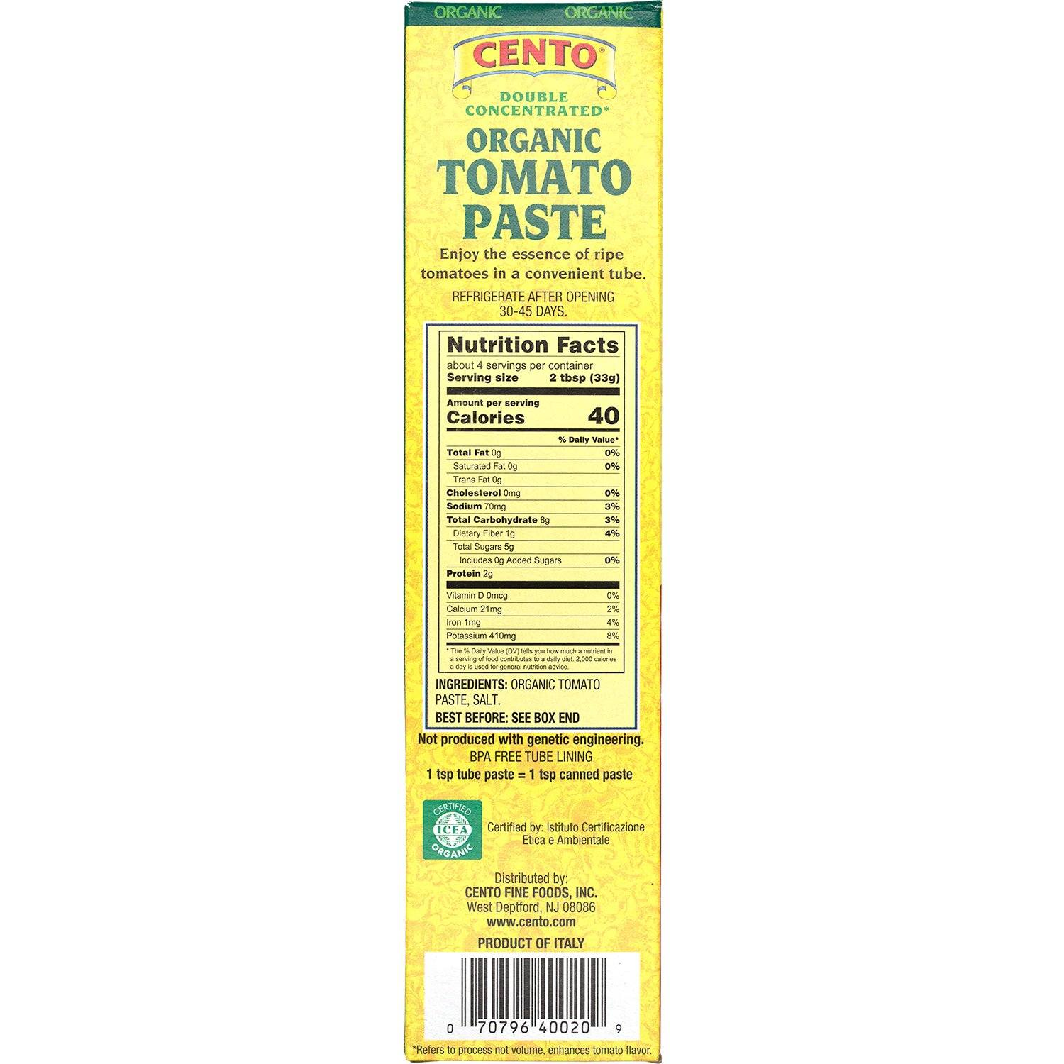 Cento Double Concentrated Tomato Paste in a Tube Cento