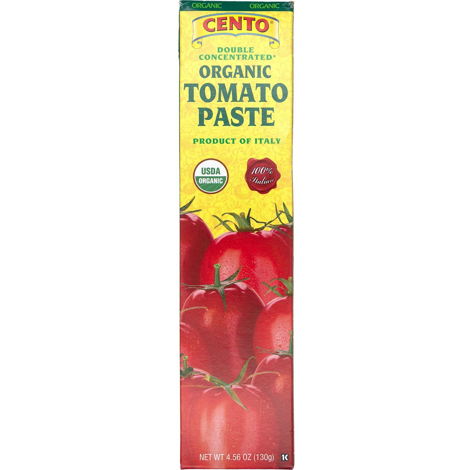Cento Double Concentrated Tomato Paste in a Tube Cento Organic 4.56 Ounce