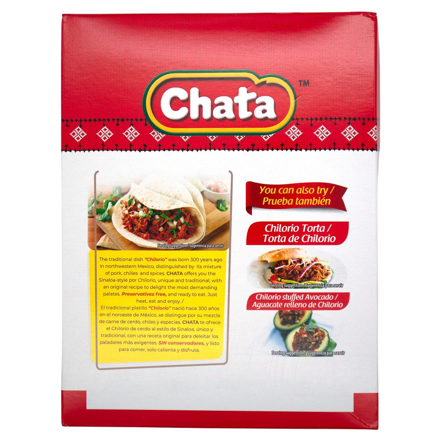 Chata Chilorio Shredded Seasoned Meat Chata