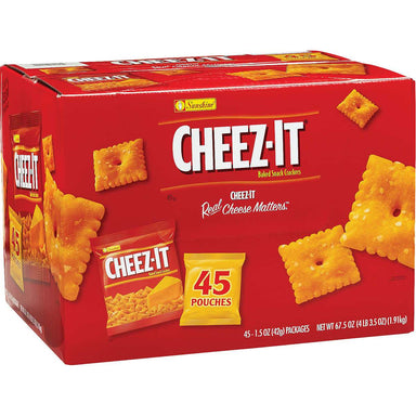 Cheez-It Original Baked Snack Cheese Crackers Cheez-It Original 1.5 Oz-45 Count