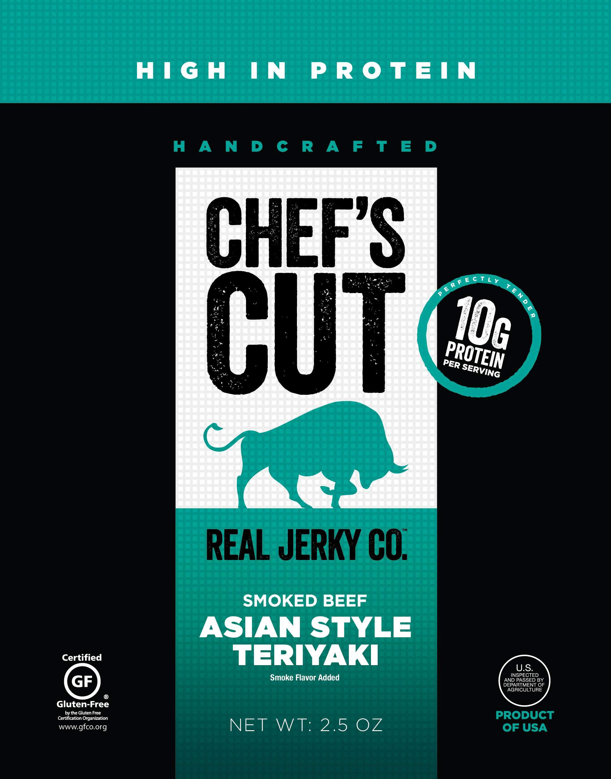Chef's Cut Handcrafted Jerky Chef's Cut Beef Jerky Asian Style Teriyaki 2.5 Ounce