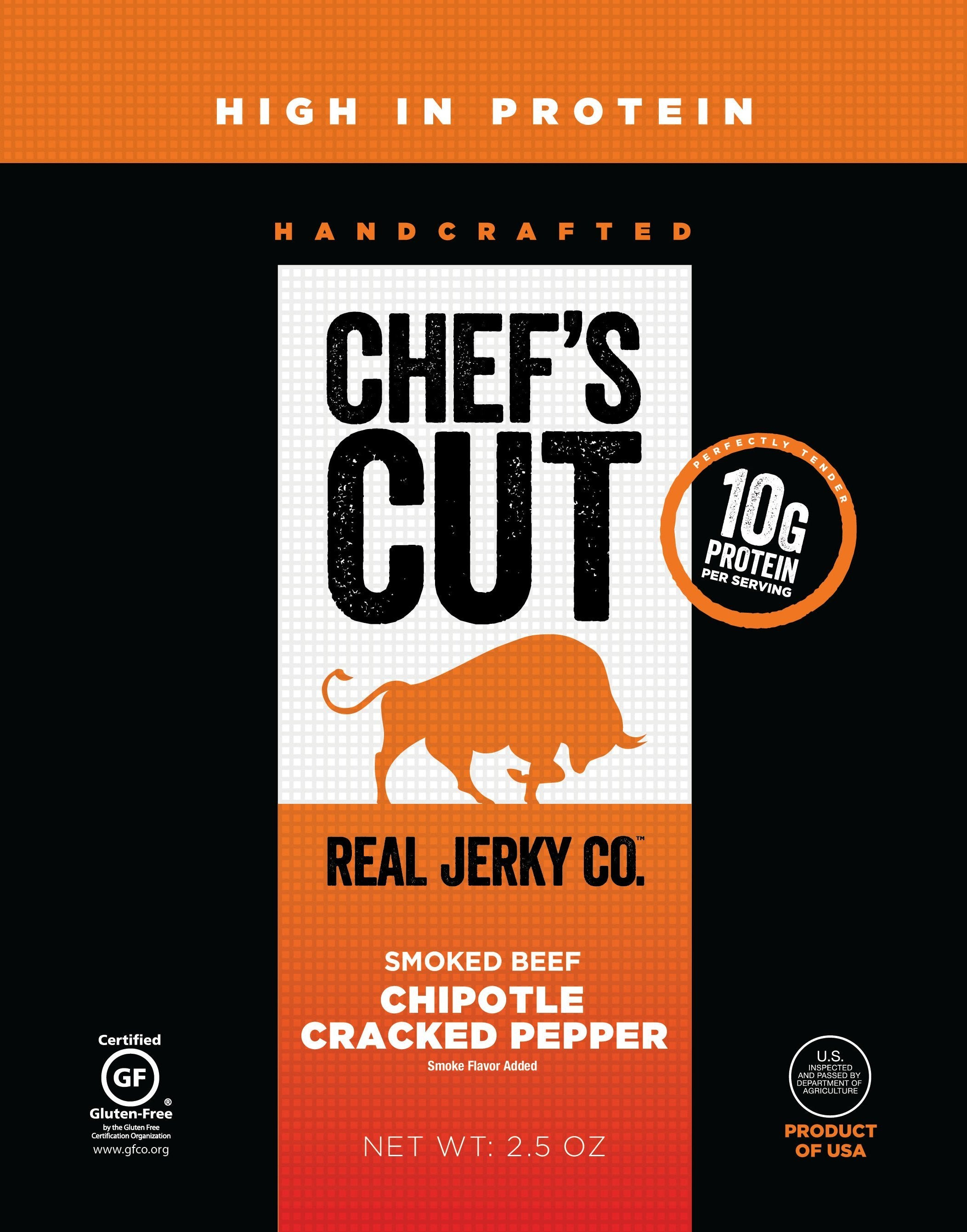 Chef's Cut Handcrafted Jerky Chef's Cut Beef Jerky Chipotle Cracked Pepper 2.5 Ounce