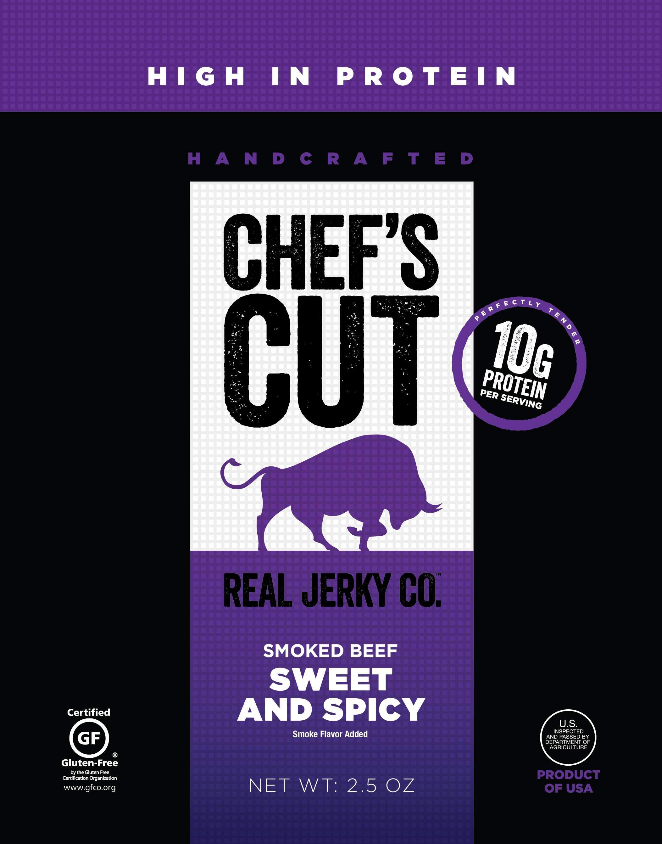 Chef's Cut Handcrafted Jerky Chef's Cut Beef Jerky Sweet & Spicy 2.5 Ounce