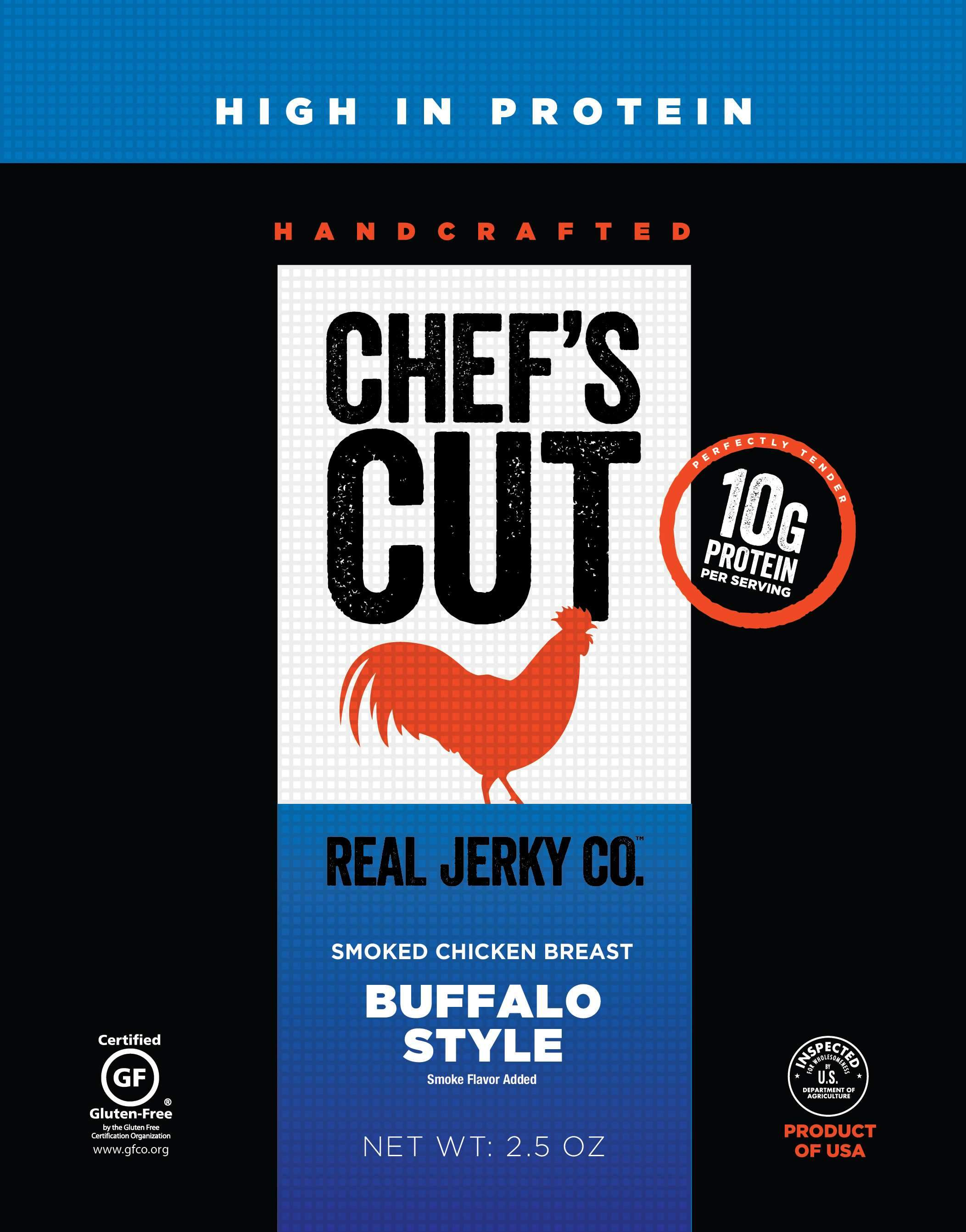 Chef's Cut Handcrafted Jerky Chef's Cut Chicken Jerky Buffalo Style 2.5 Ounce