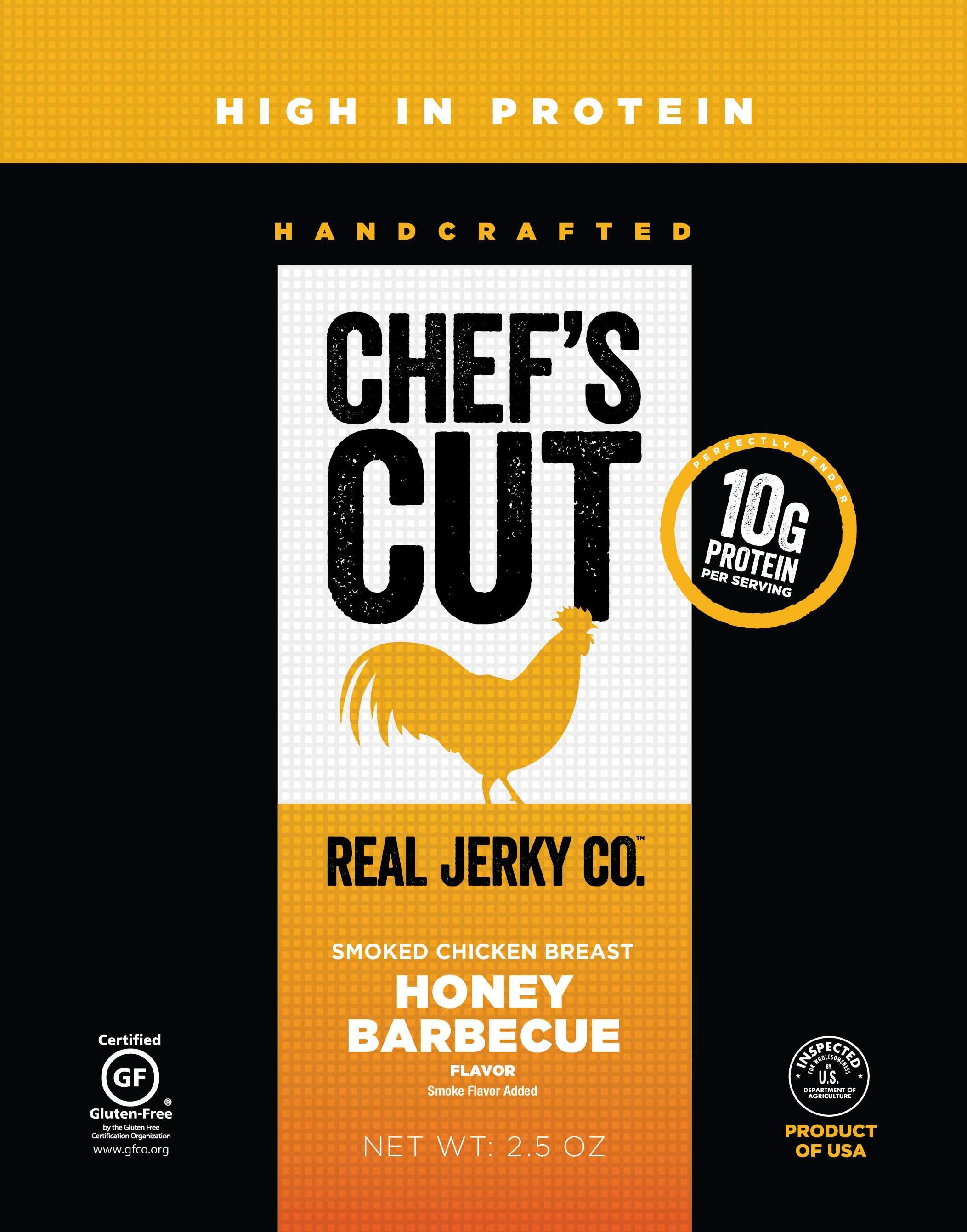 Chef's Cut Handcrafted Jerky Chef's Cut Chicken Jerky Honey BBQ 2.5 Ounce