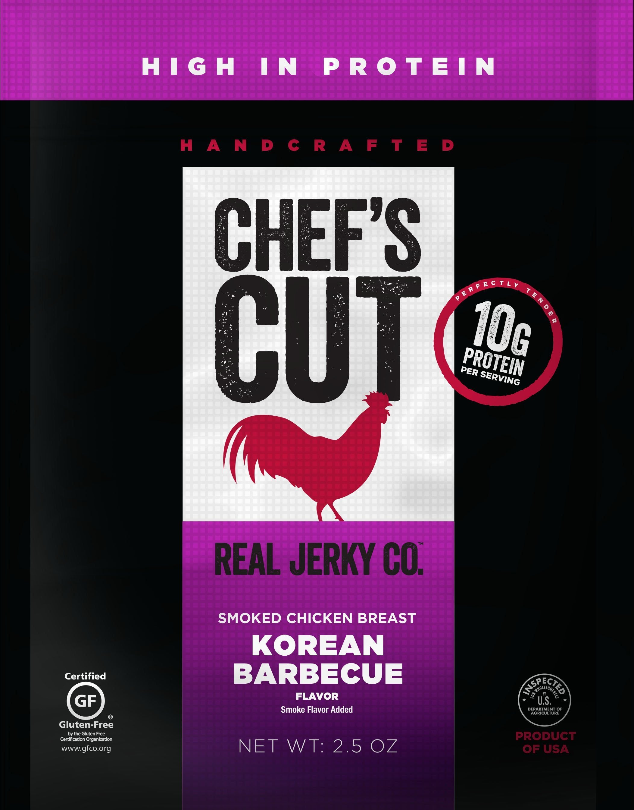 Chef's Cut Handcrafted Jerky Chef's Cut Chicken Jerky Korean BBQ 2.5 Ounce