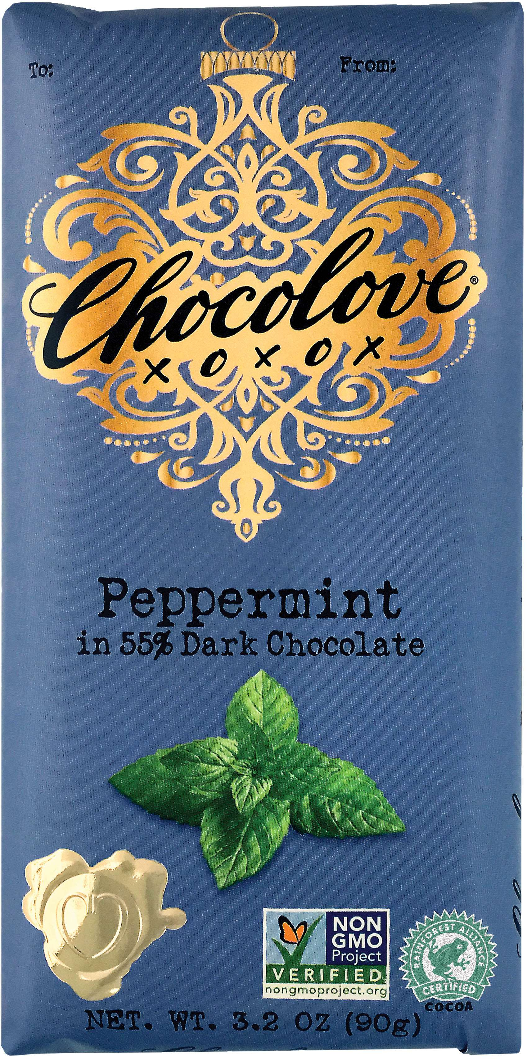 Chocolove Premium Chocolate Bars Meltable Chocolove Peppermint 3.2 Ounce