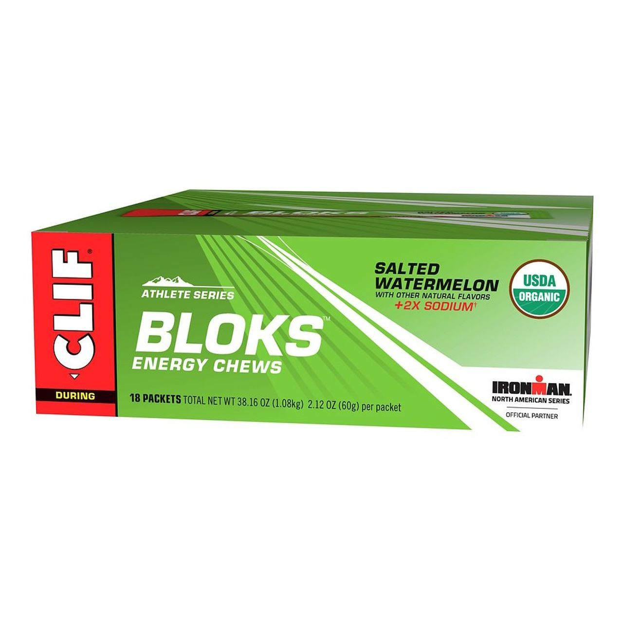 CLIF BLOKS Energy Chews CLIF Salted Watermelon 2.12 Oz-18 Count