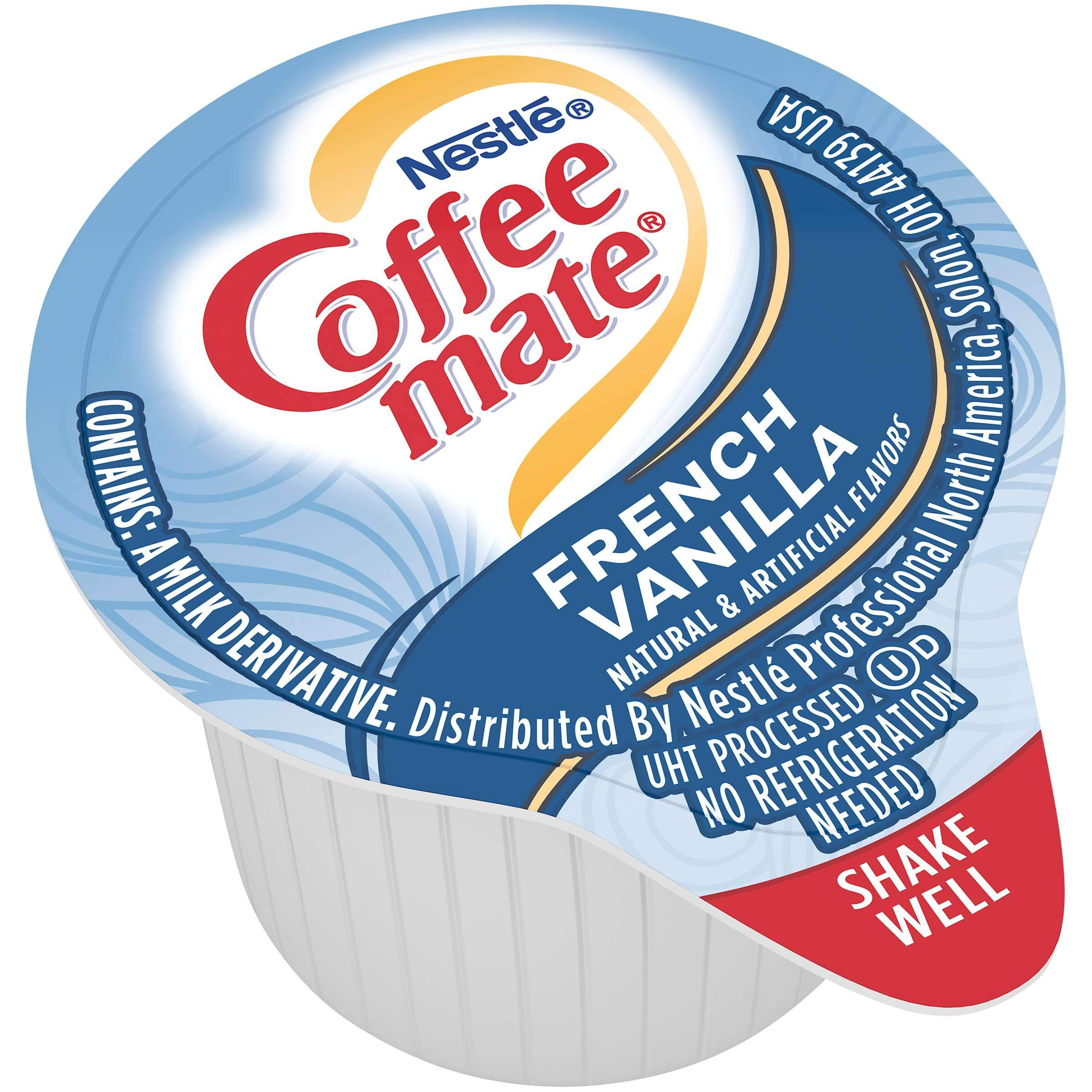 Coffee-Mate Single Serve Liquid Creamer Nestle French Vanilla 180 Singles