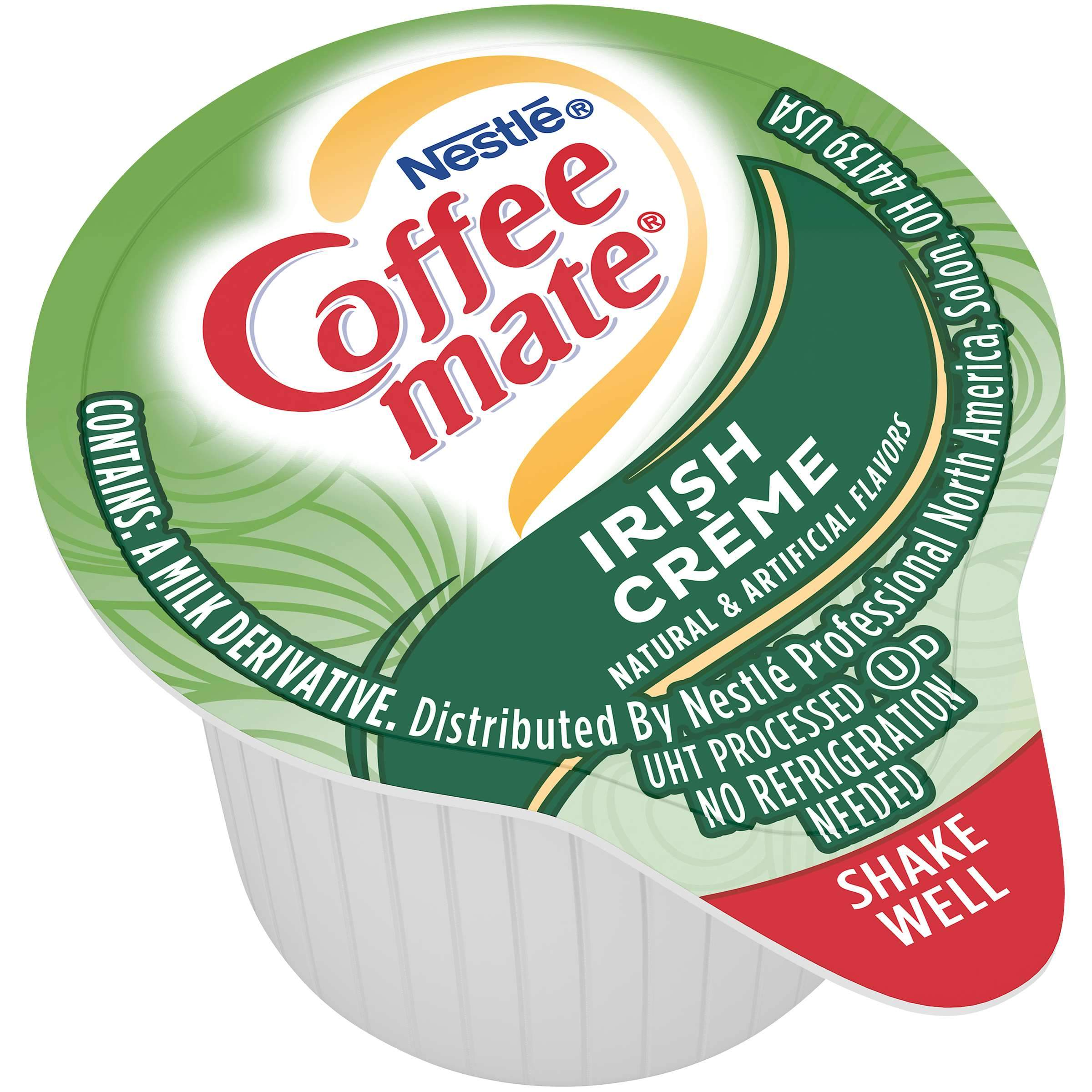 Coffee-Mate Single Serve Liquid Creamer Nestle Irish Creme 180 Singles