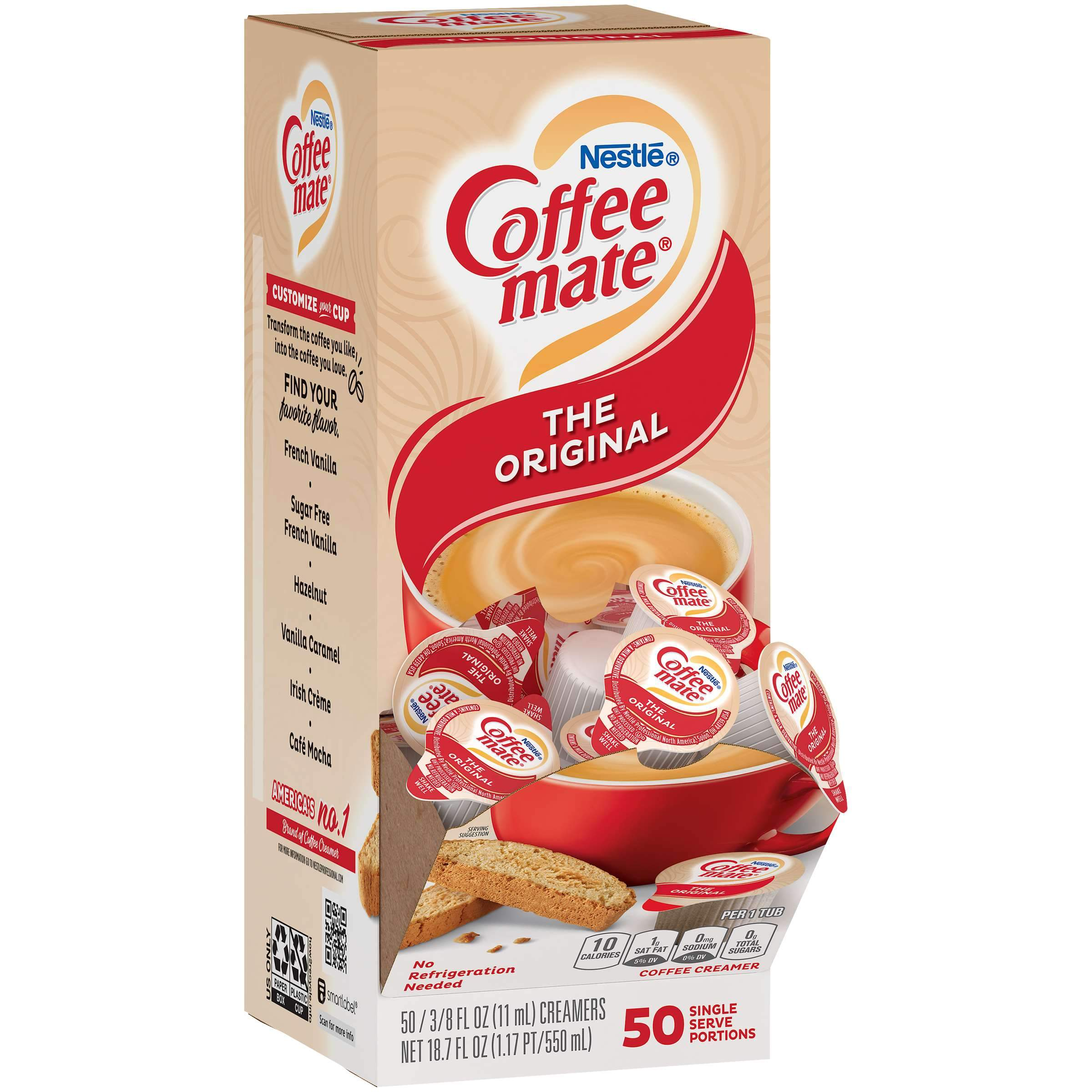 Coffee-Mate Single Serve Liquid Creamer Nestle The Original 50 Singles