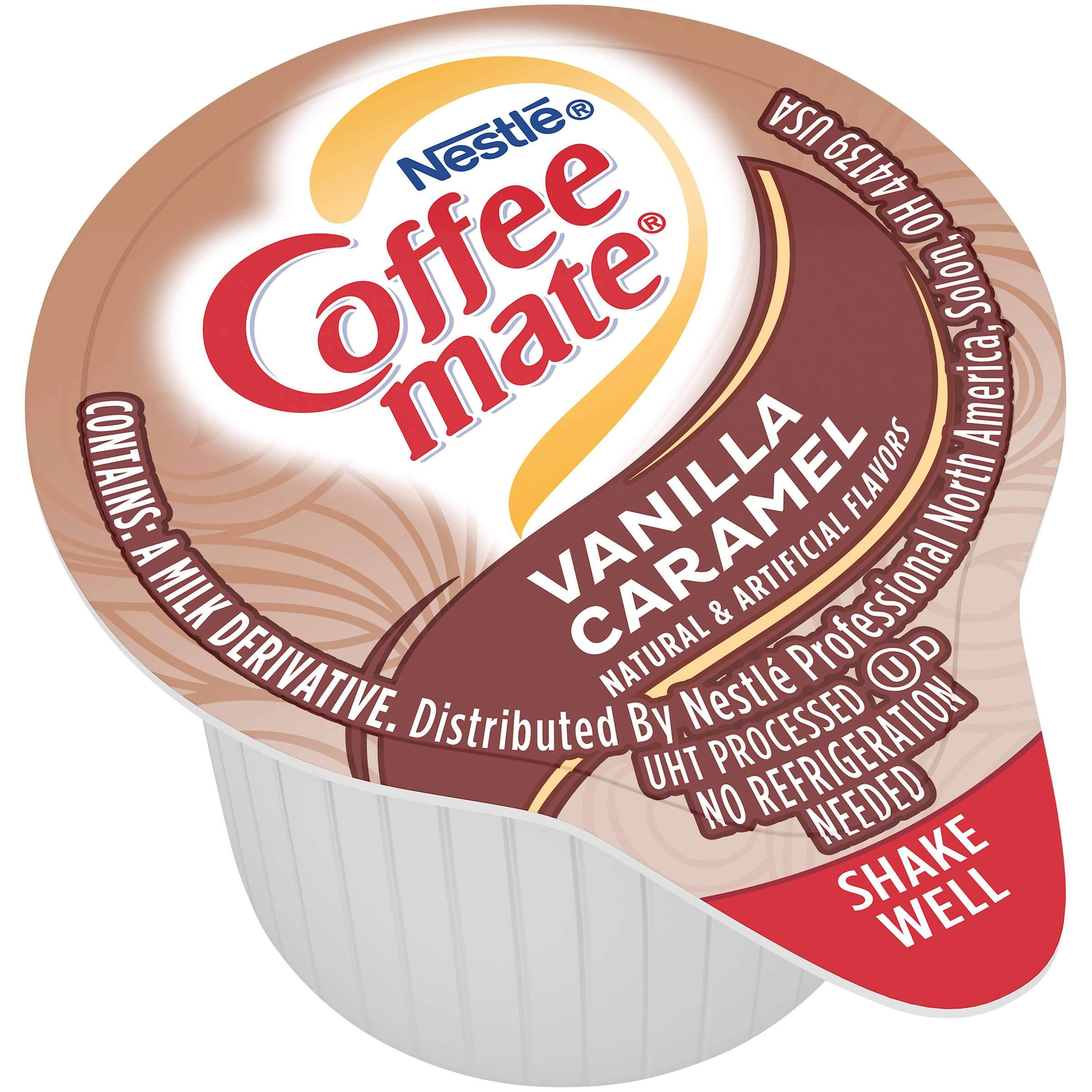 Coffee-Mate Single Serve Liquid Creamer Nestle Vanilla Caramel 180 Singles