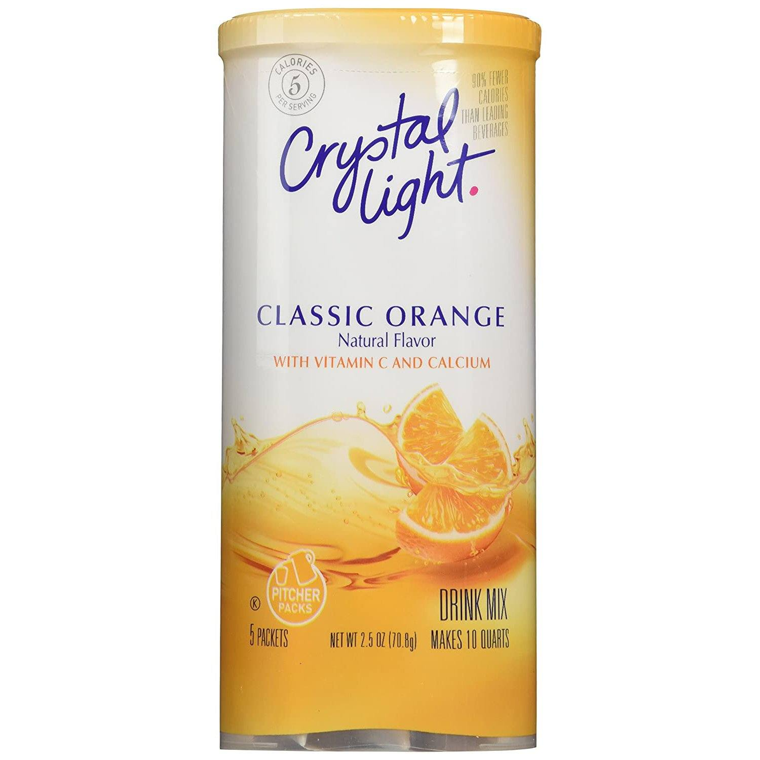 Crystal Light Drink Mixes Crystal Light Classic Orange 5 Pitcher Packets