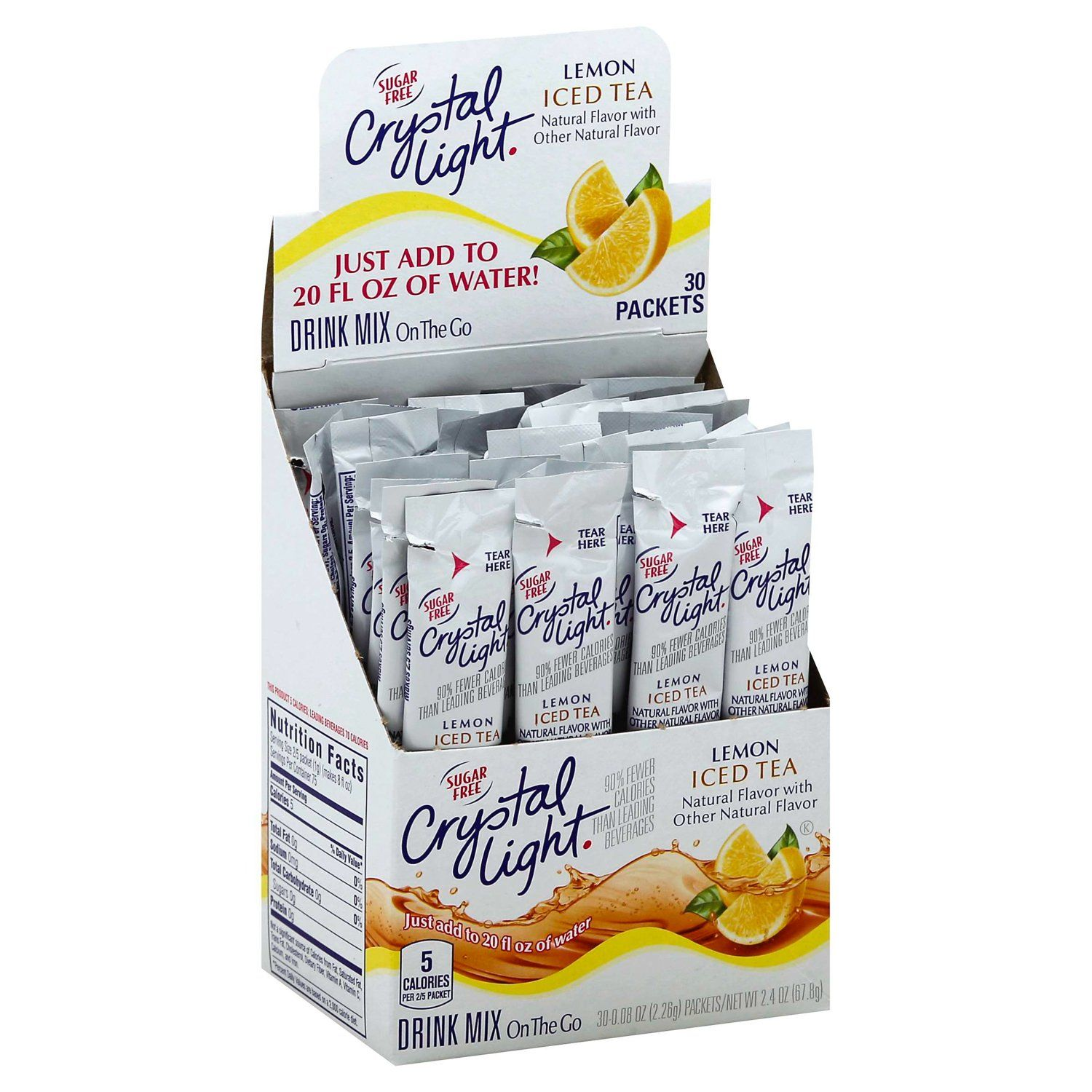 Crystal Light Drink Mixes Crystal Light Lemon Iced Tea 30 Count