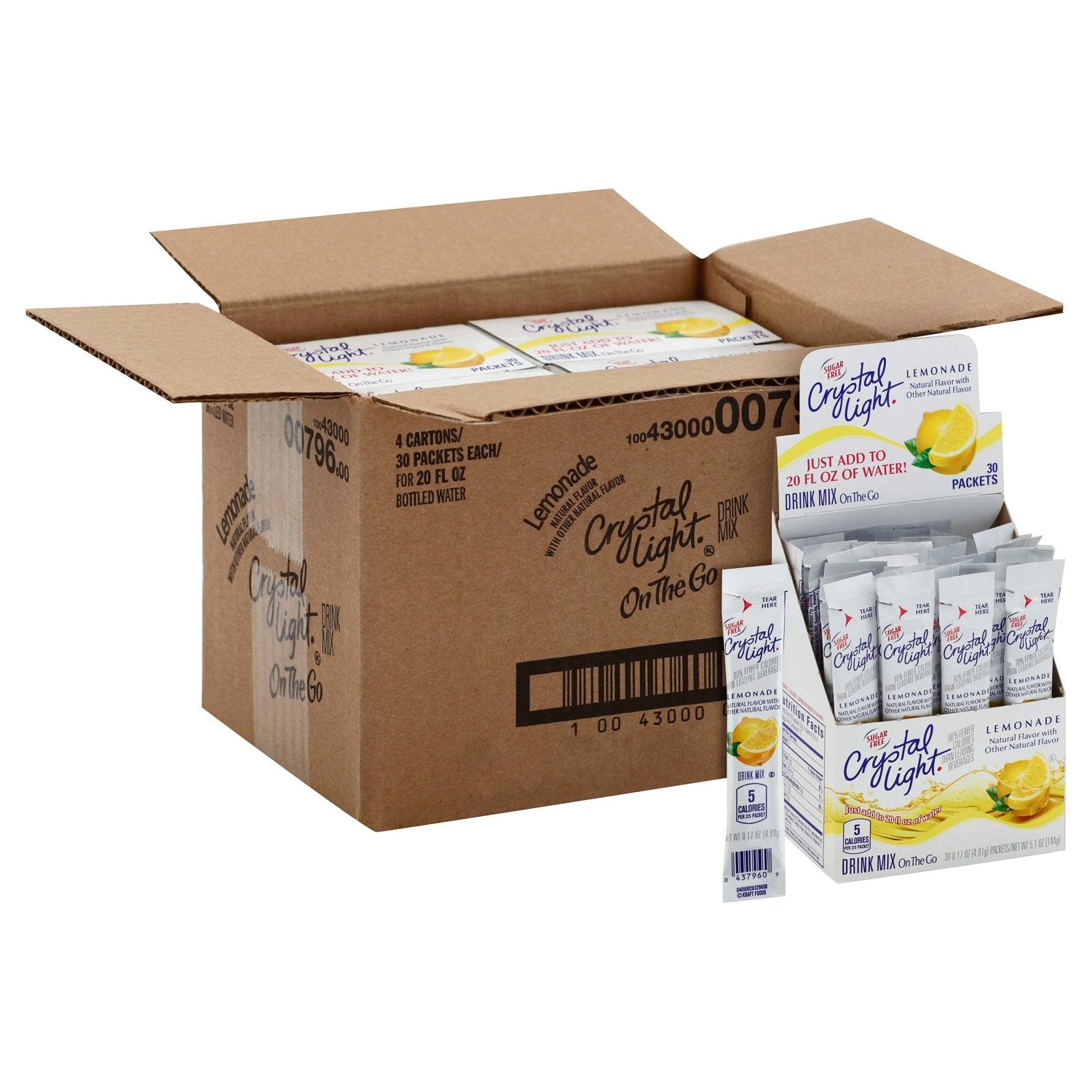 Crystal Light Drink Mixes Crystal Light Lemonade 120 Count