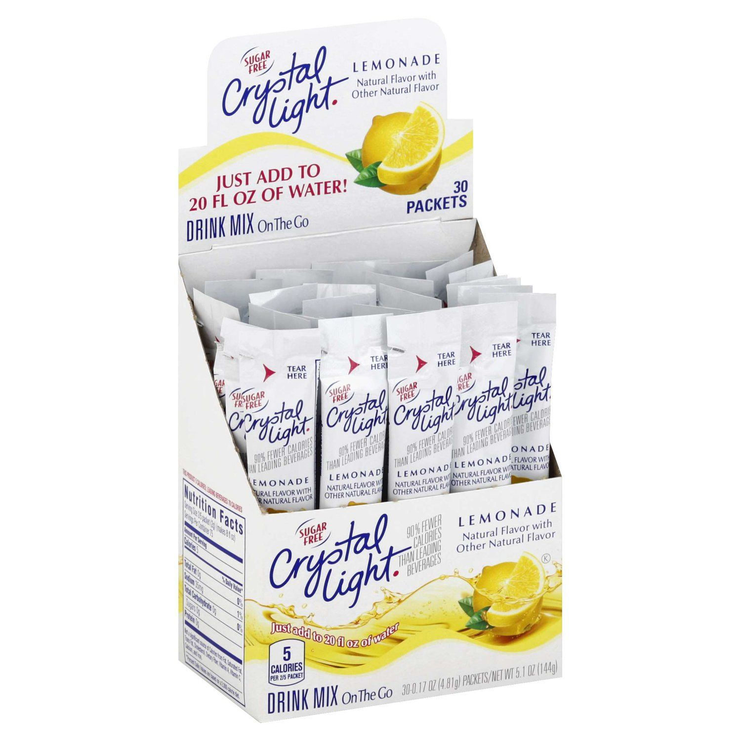 Crystal Light Drink Mixes Crystal Light Lemonade 30 Count