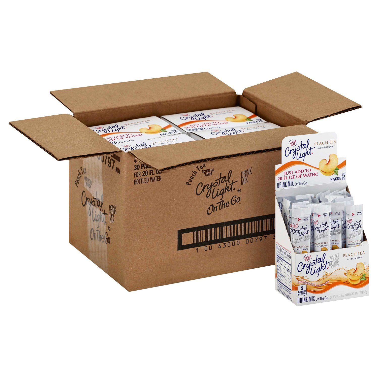 Crystal Light Drink Mixes Crystal Light Peach 120 Count