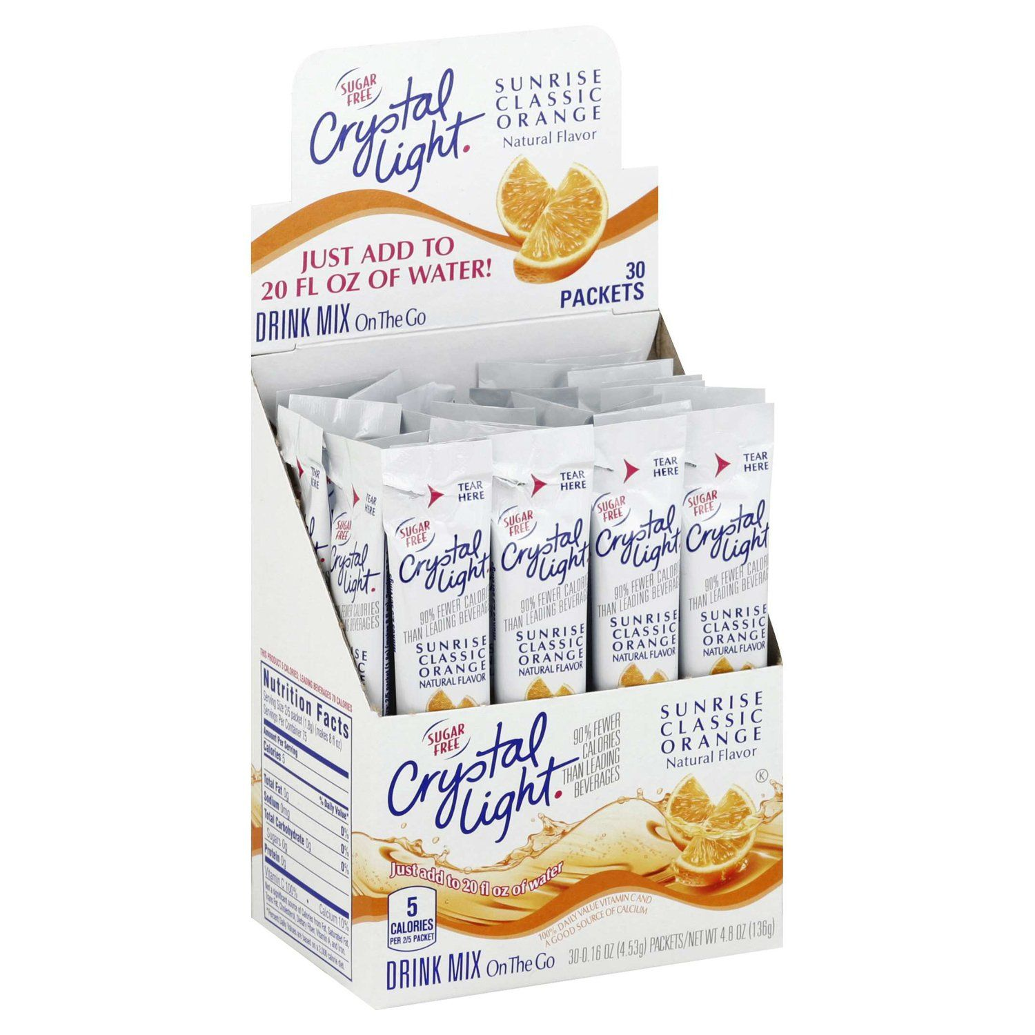 Crystal Light Drink Mixes Crystal Light Sunrise Classic Orange 30 Count