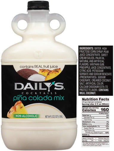 Daily's Cocktail Mix Daily's Piña Colada 64 Fluid Ounce