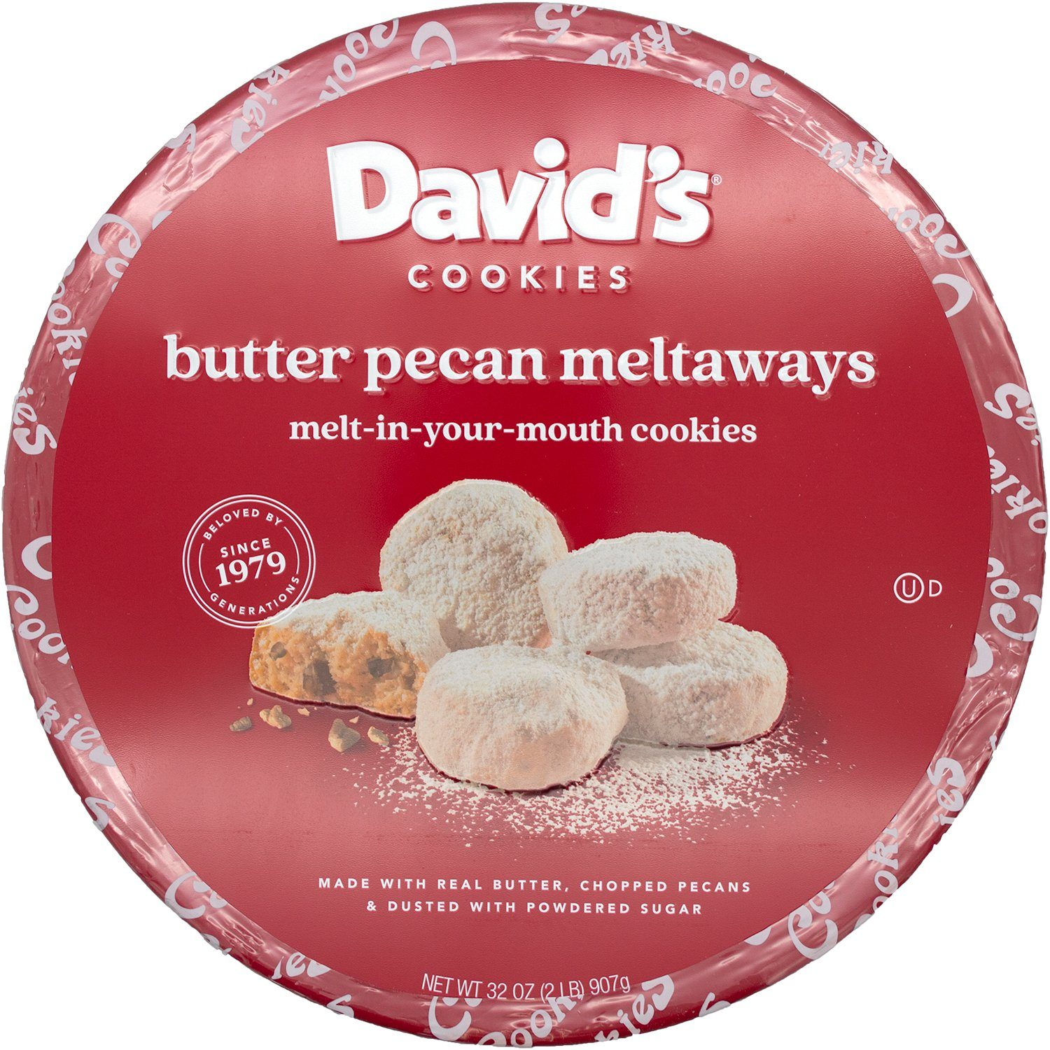 David's Cookies Butter Pecan Meltaways David's Cookies 32 Ounce