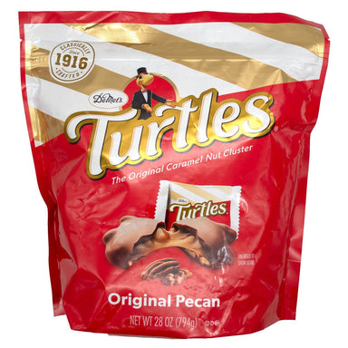 Demet's Turtles - The Original Caramel Nut Cluster Demet's Original Pecan 28 Ounce
