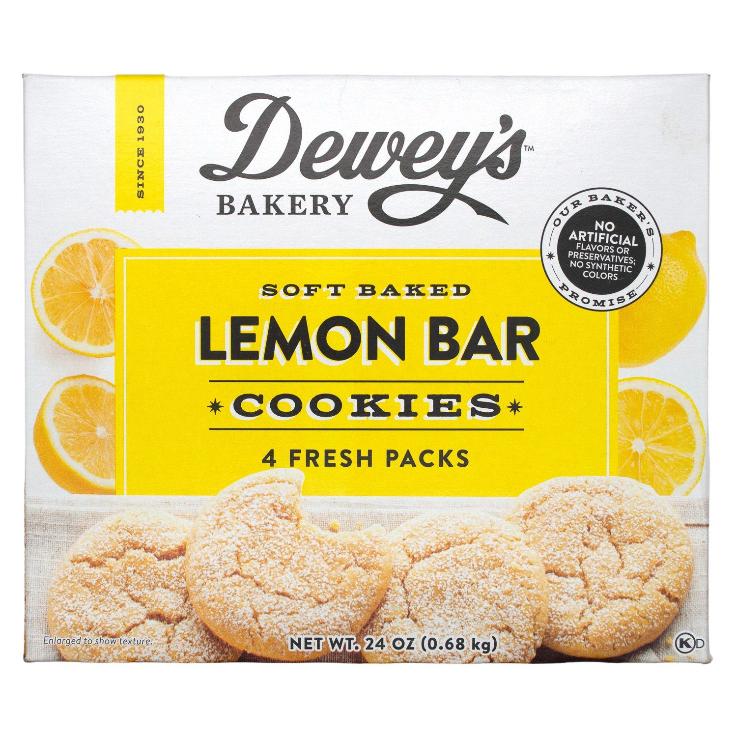Dewey's Soft Baked Cookies Dewey's Lemon Bar 24 Ounce