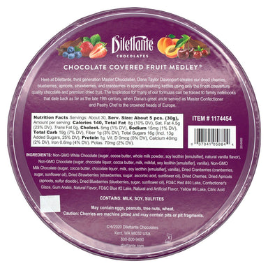 Dilettante Chocolate Covered Fruit Meltable Dilettante