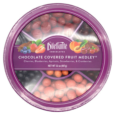 Dilettante Chocolate Covered Fruit Meltable Dilettante Medley Wheel 32 Ounce