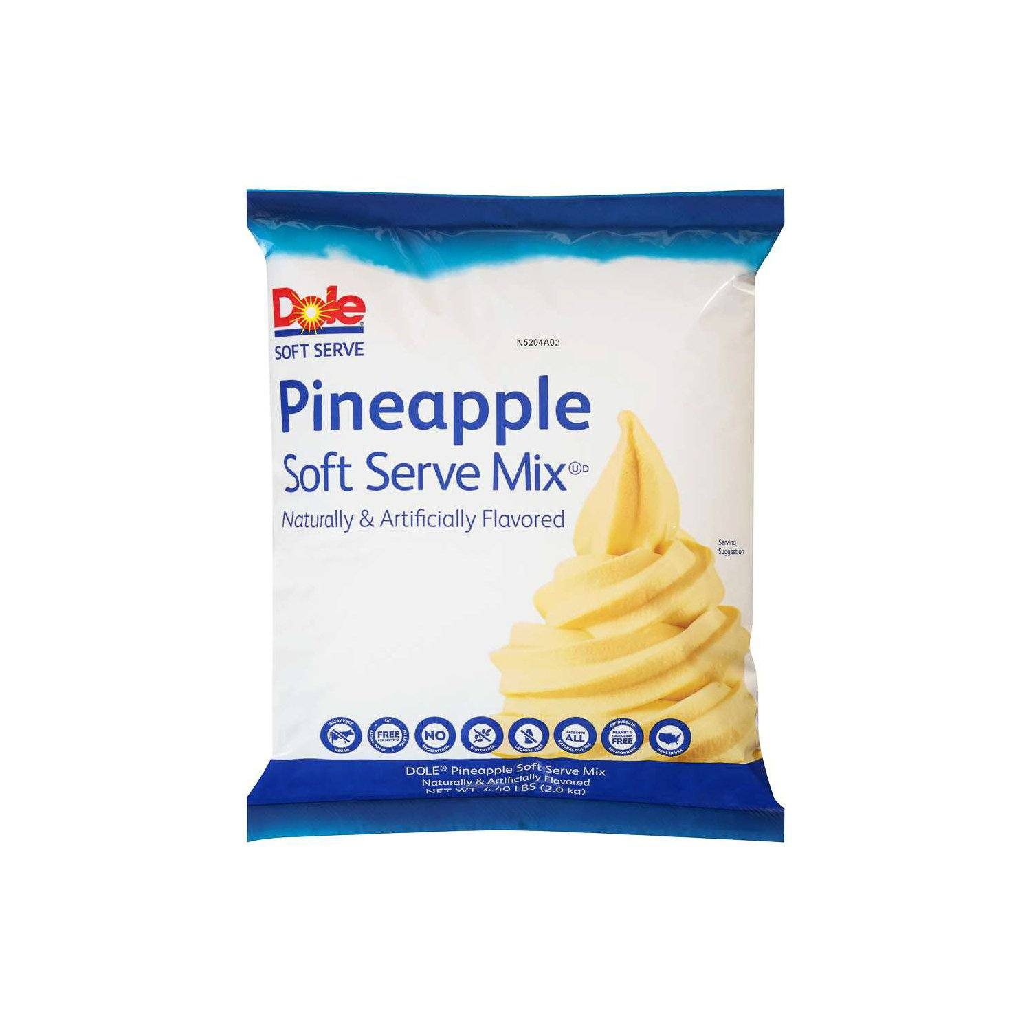 Dole Soft Serve Mix Dole Pineapple 4.4 Pound