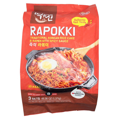 Dongwon Rapokki - Traditional Korean Rice Cake & Ramen with Spicy Sauce Dongwon 48.36 Ounce