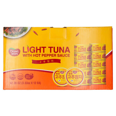 Dongwon Tuna with Hot Pepper Sauce Dongwon Light 3.53 Oz-12 Count