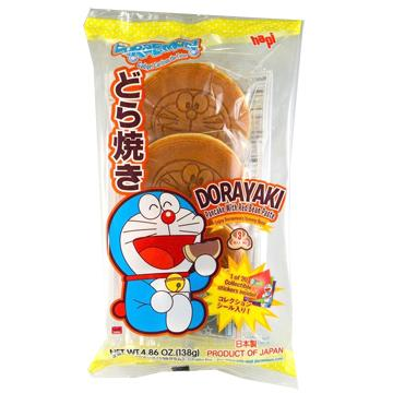 Doraemon Dorayaki Pancake with Red Bean Paste , 4.86 Ounce Hapi