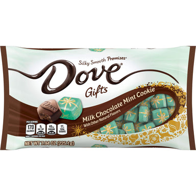 DOVE PROMISES Silky Smooth Chocolate Meltable Dove Milk Mint Cookie 7.94 Ounce