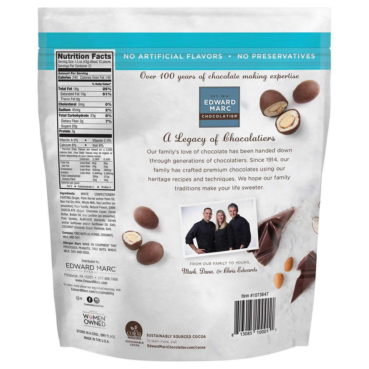 Edward Marc Chocolatier Almonds Edward Marc Chocolatier