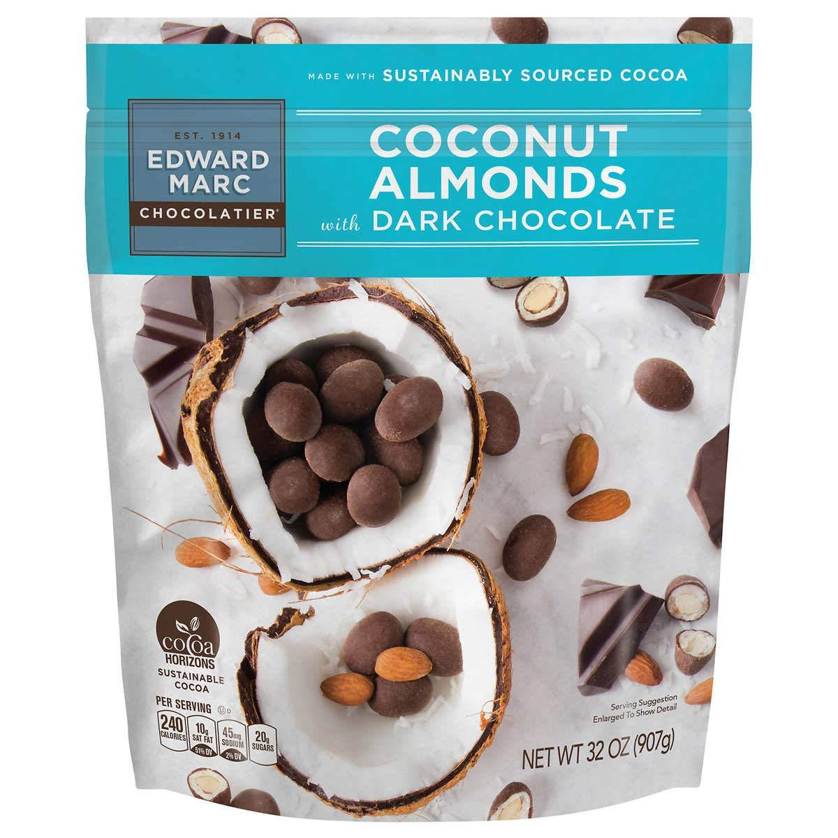 Edward Marc Chocolatier Almonds Edward Marc Chocolatier Coconut Almonds 32 Ounce