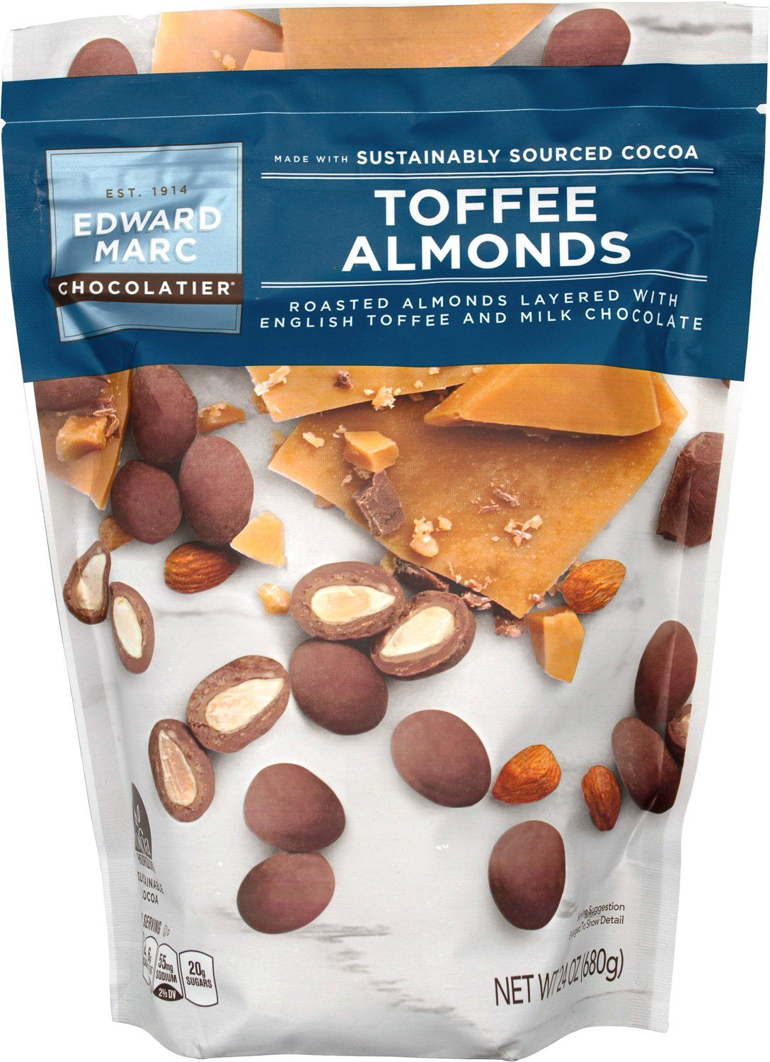 Edward Marc Chocolatier Almonds Edward Marc Chocolatier Toffee Almonds 24 Ounce