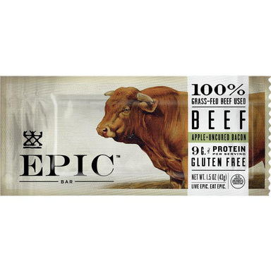 Epic Meat Bars Epic Beef Apple + Uncured Bacon 1.5 Ounce