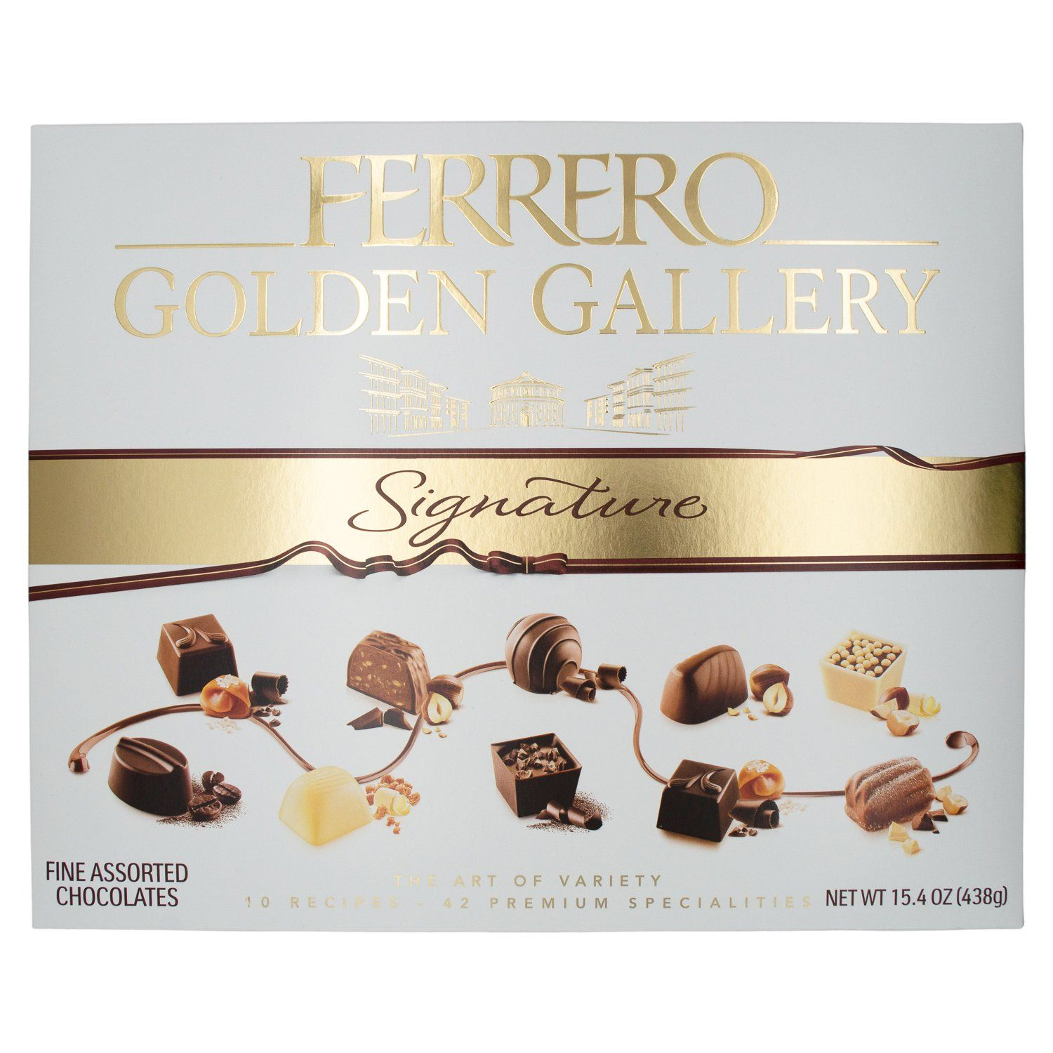 Ferrerro Golden Gallery Signature Fine Assorted Chocolates Meltable Ferrero 15.4 Ounce