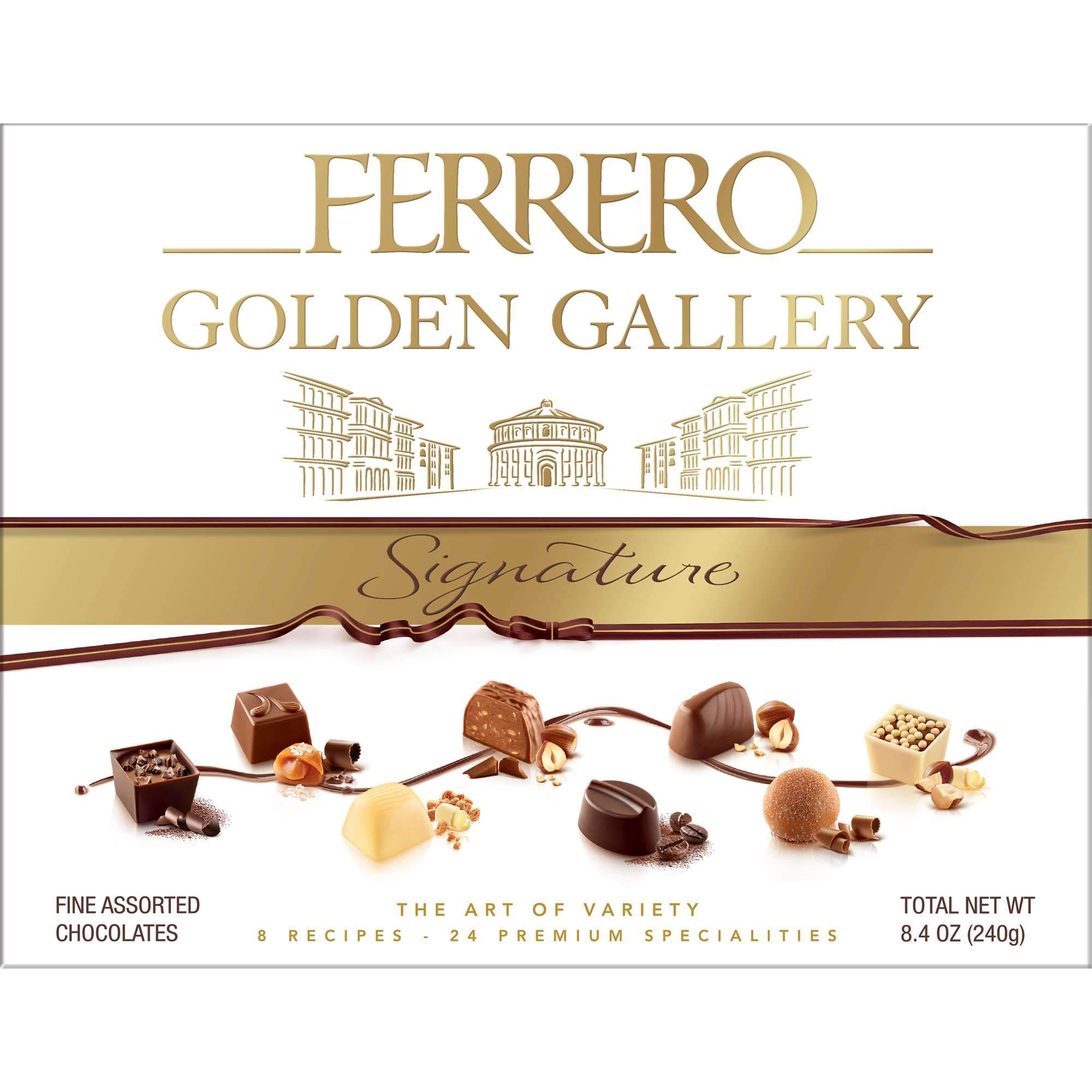 Ferrerro Golden Gallery Signature Fine Assorted Chocolates Meltable Ferrero 4.2 Ounce