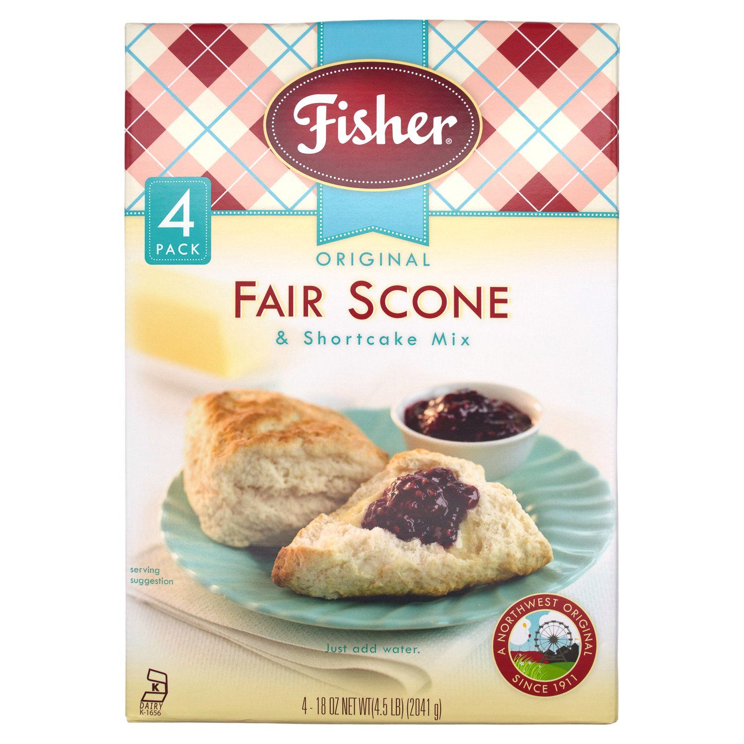 Fisher Original Fair Scone & Shortcake Mix Fisher 72 Ounce