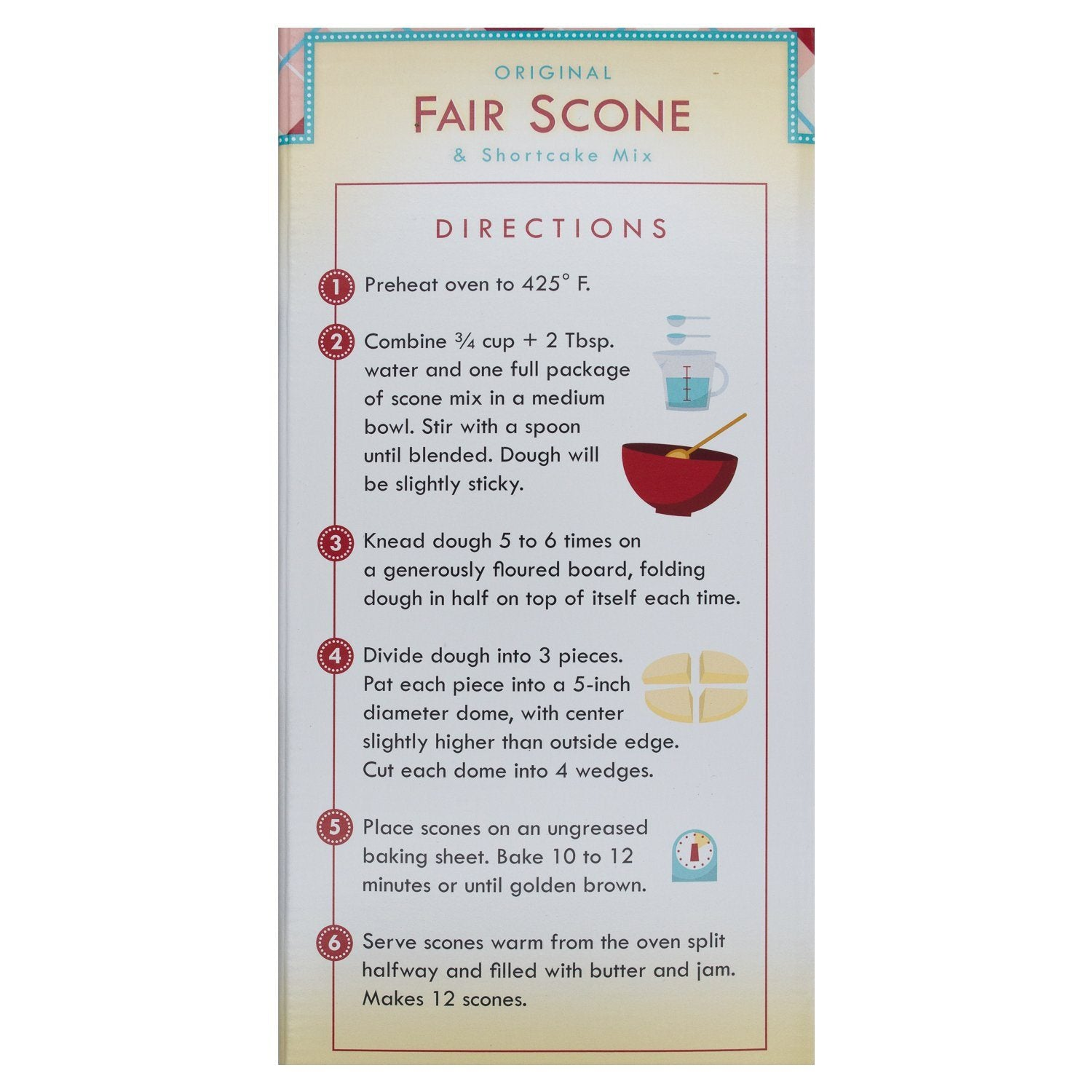 Fisher Original Fair Scone & Shortcake Mix Fisher