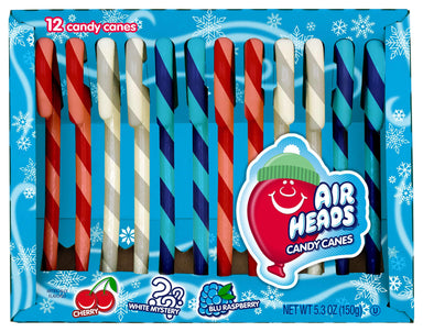 Flavored Candy Canes Spangler AirHeads Assorted 5.3 Ounce