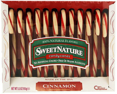 Flavored Candy Canes Spangler SweetNature Cinnamon 5.3 Ounce