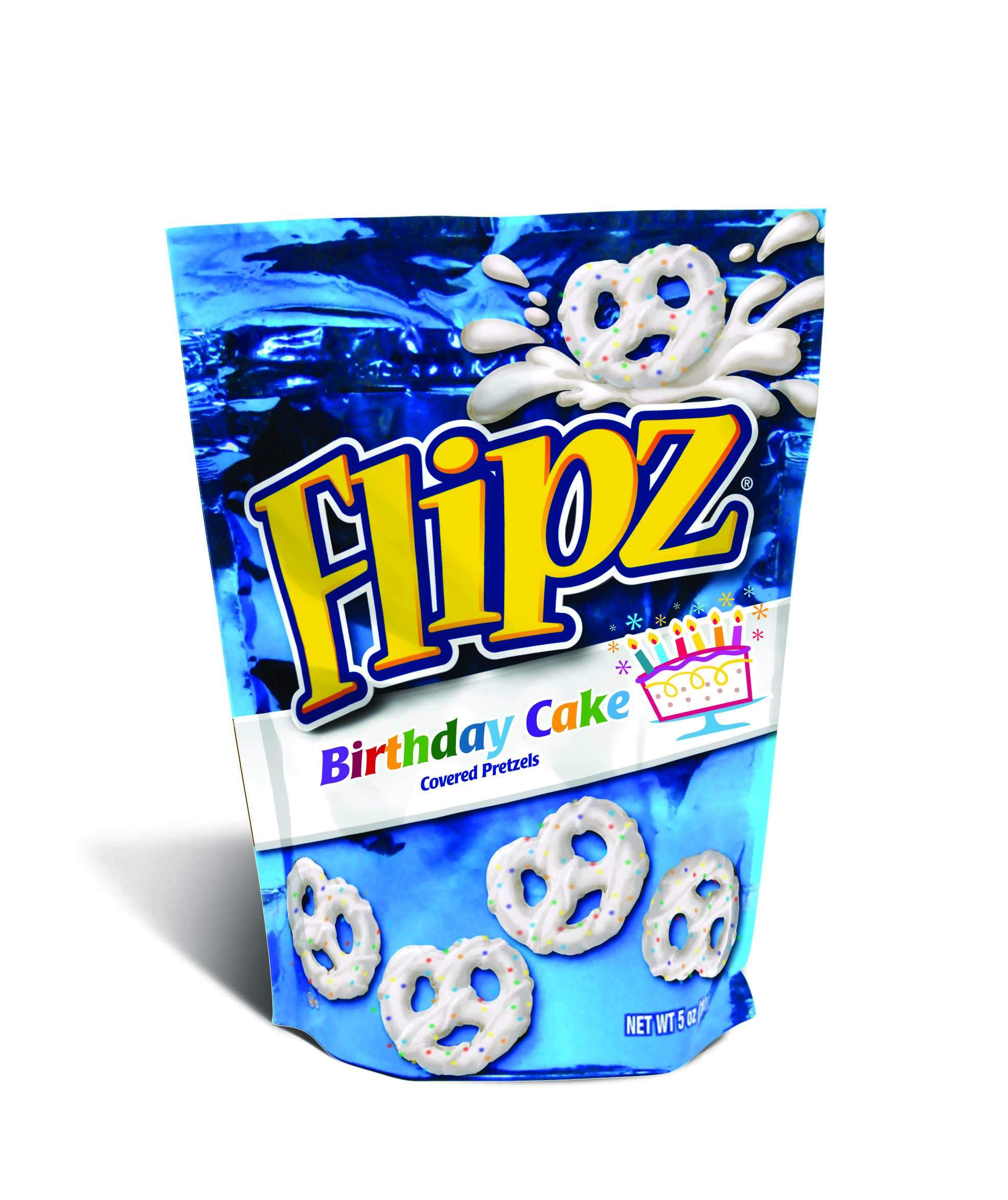Flipz Chocolate Covered Pretzels Flipz Birthday Cake 5 Ounce