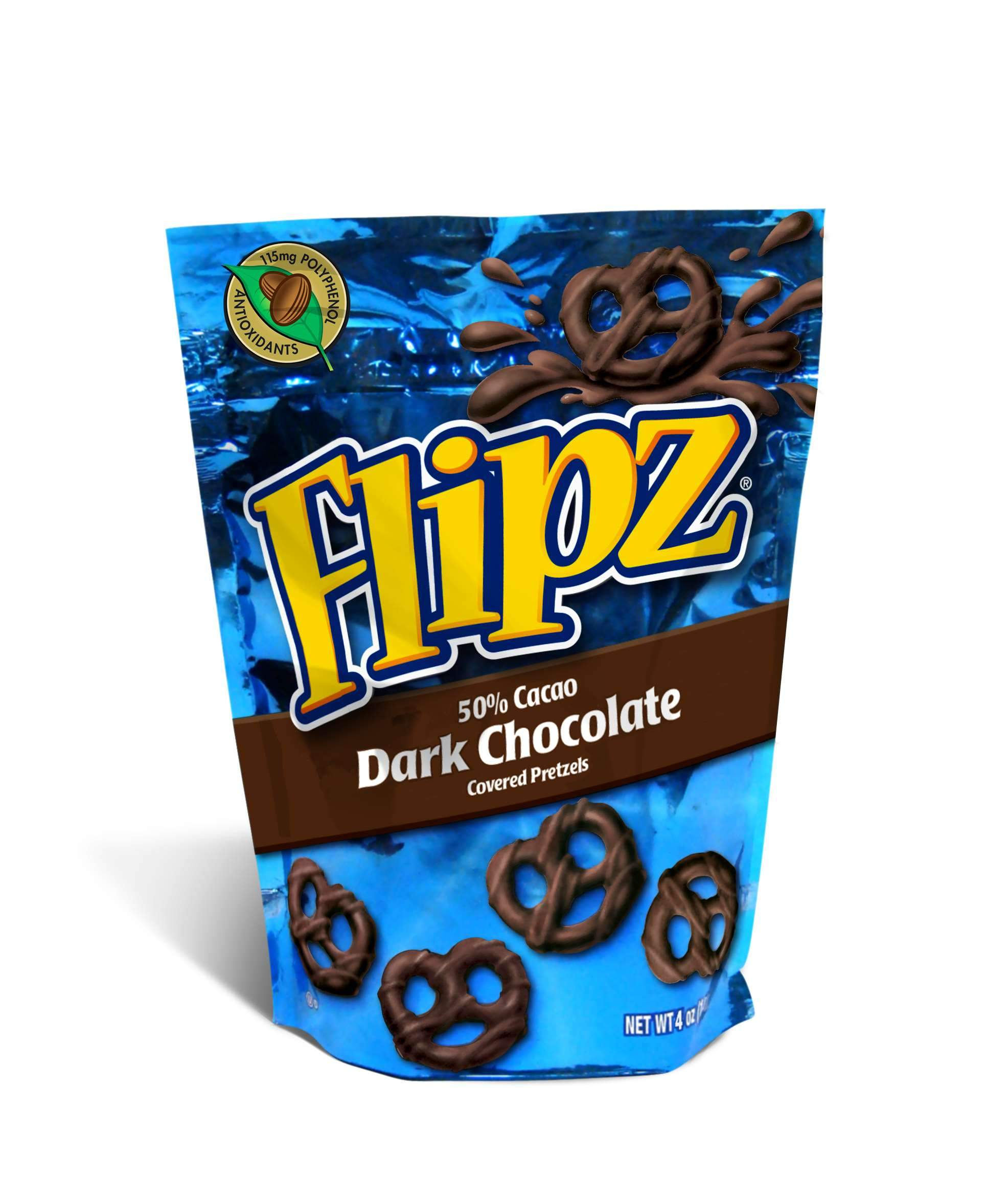 Flipz Chocolate Covered Pretzels Flipz Dark Chocolate 4 Ounce