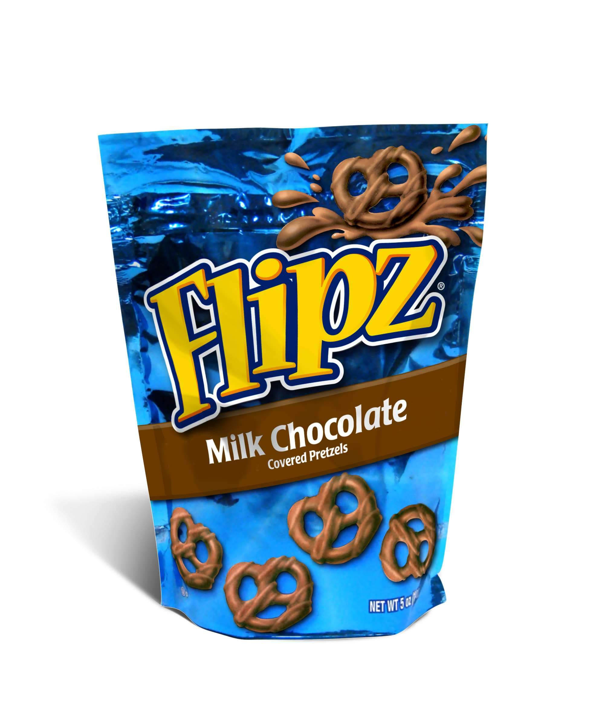 Flipz Chocolate Covered Pretzels Flipz Milk Chocolate 5 Ounce