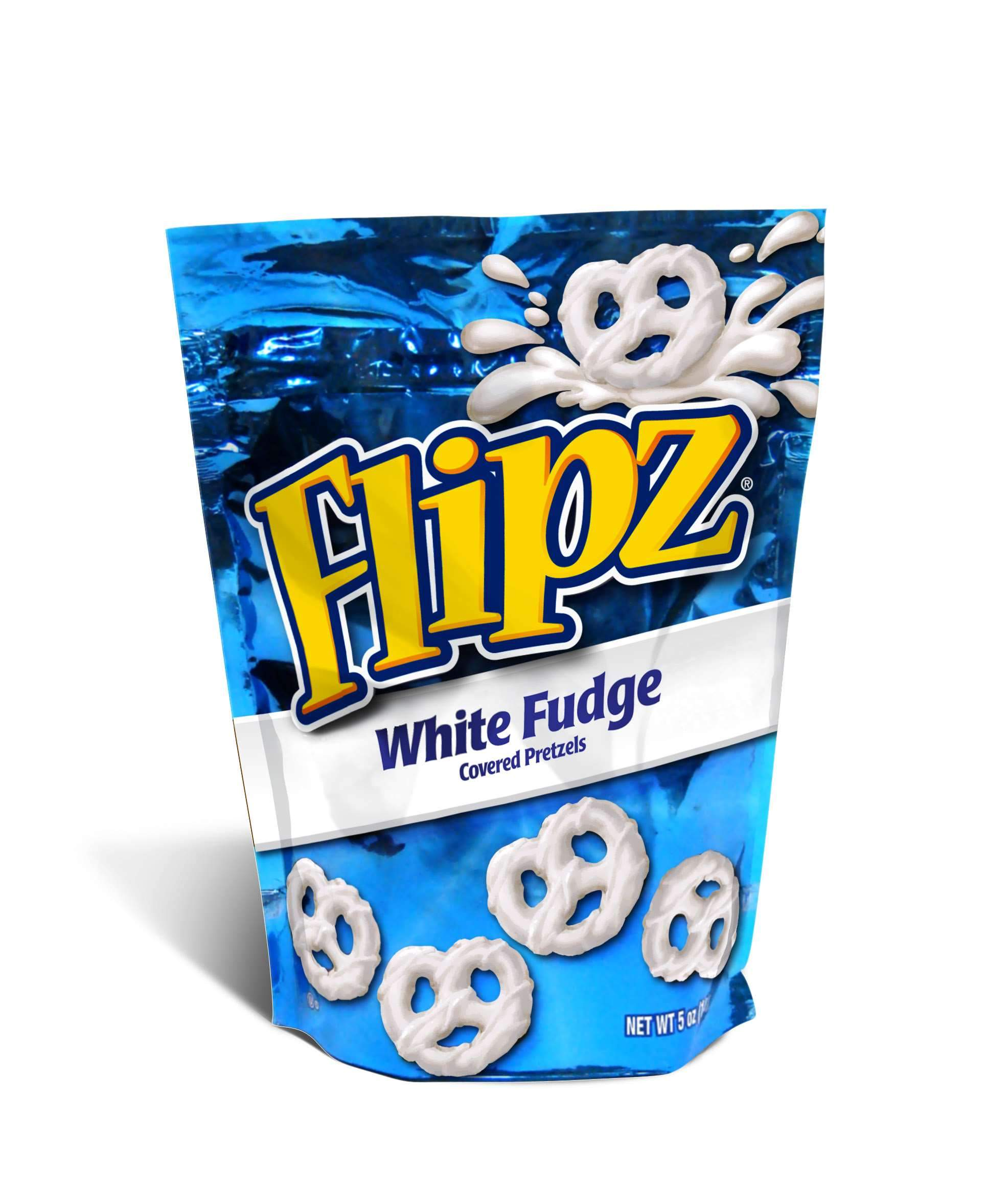 Flipz Chocolate Covered Pretzels Flipz White Fudge 5 Ounce