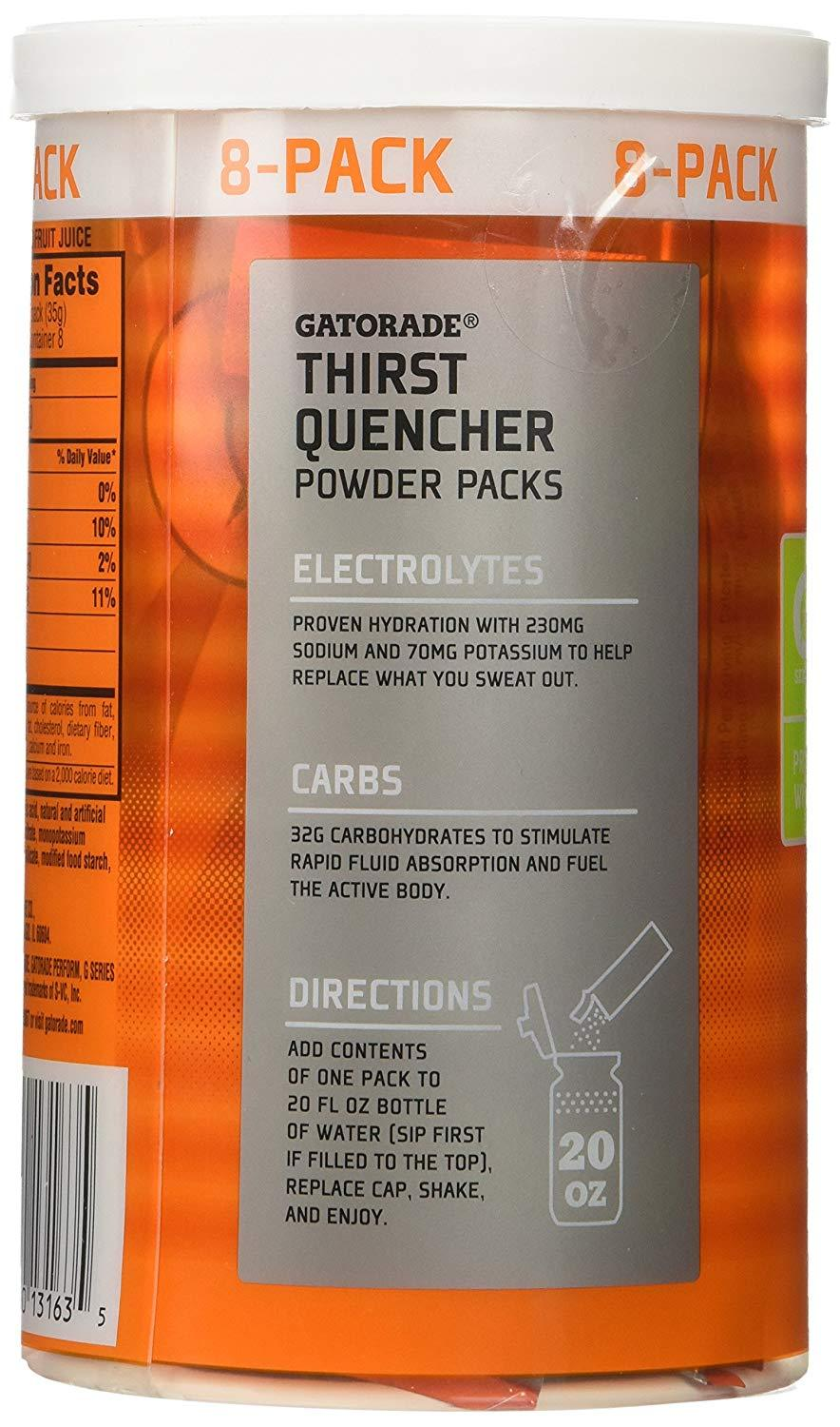 Gatorade Thirst Quencher Powder Packs Gatorade